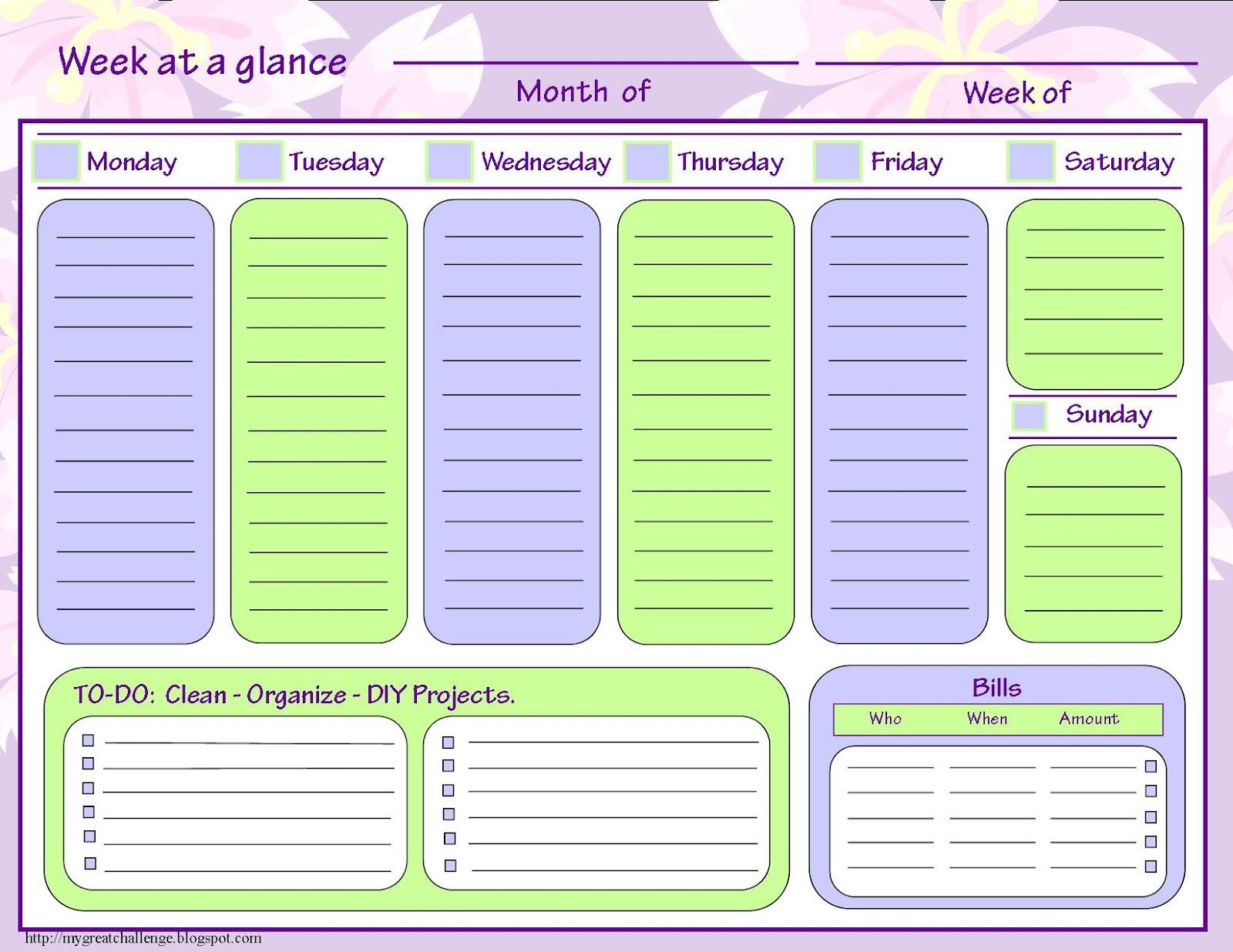 My Great Challenge: Home Management Filing System Templates