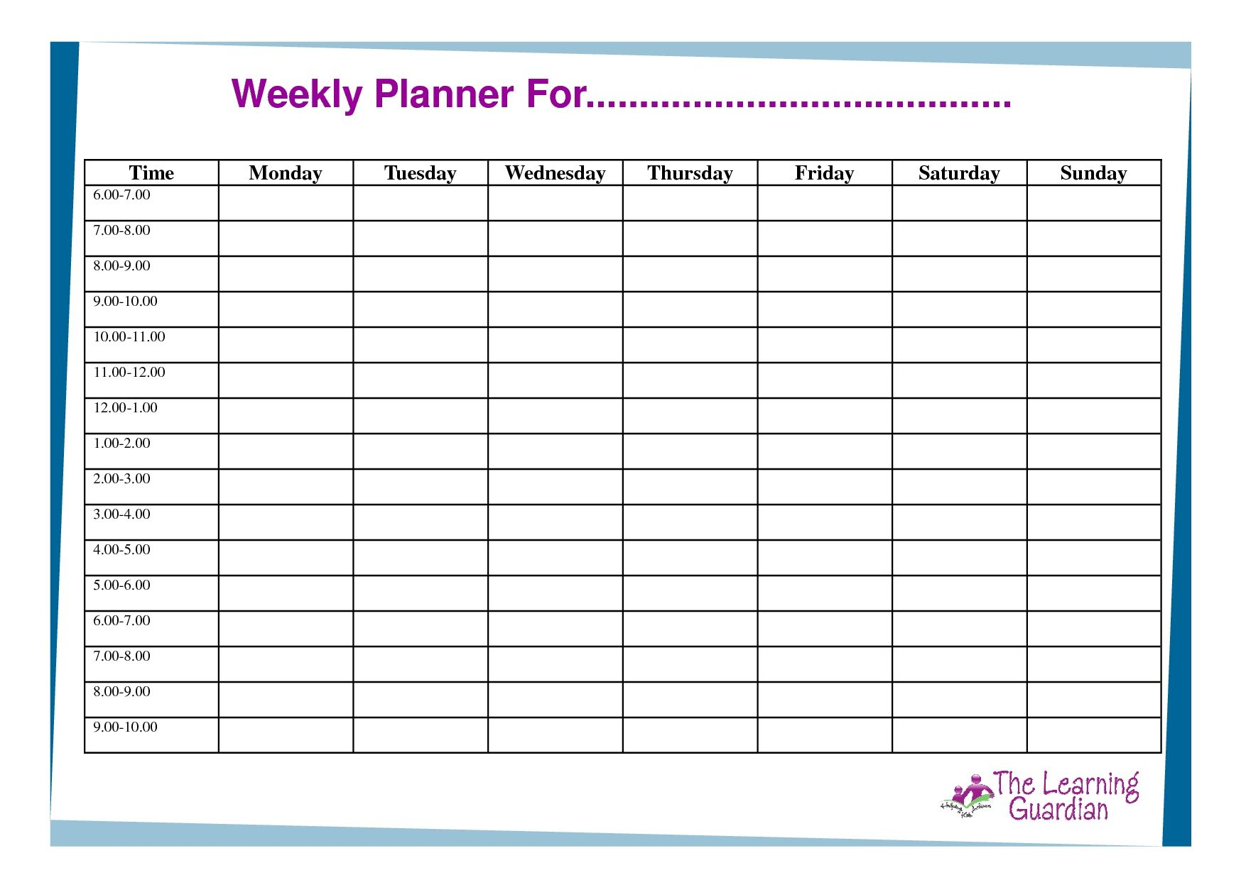 Perfect Free Printable Monday Through Friday Calendar In