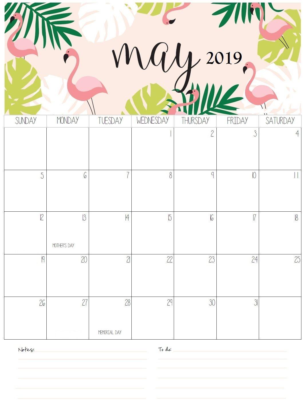 Personalized May Calendar 2019 #May #May2019
