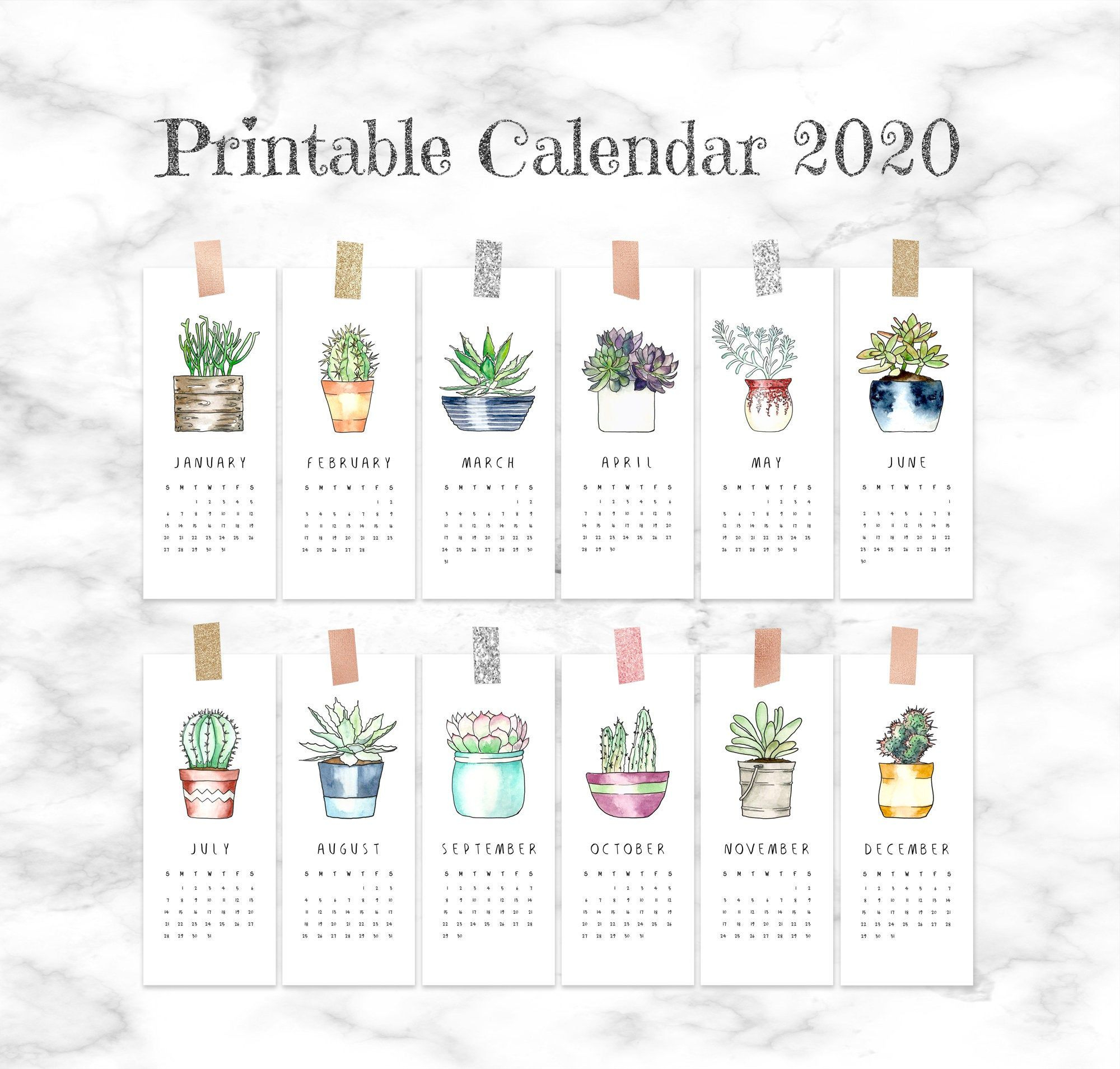 Pin On 2020 Calendar Printables