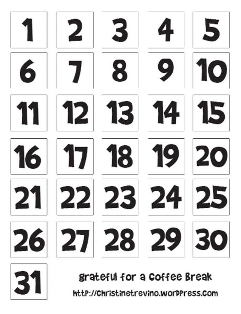 Pin On Calendar Numbers