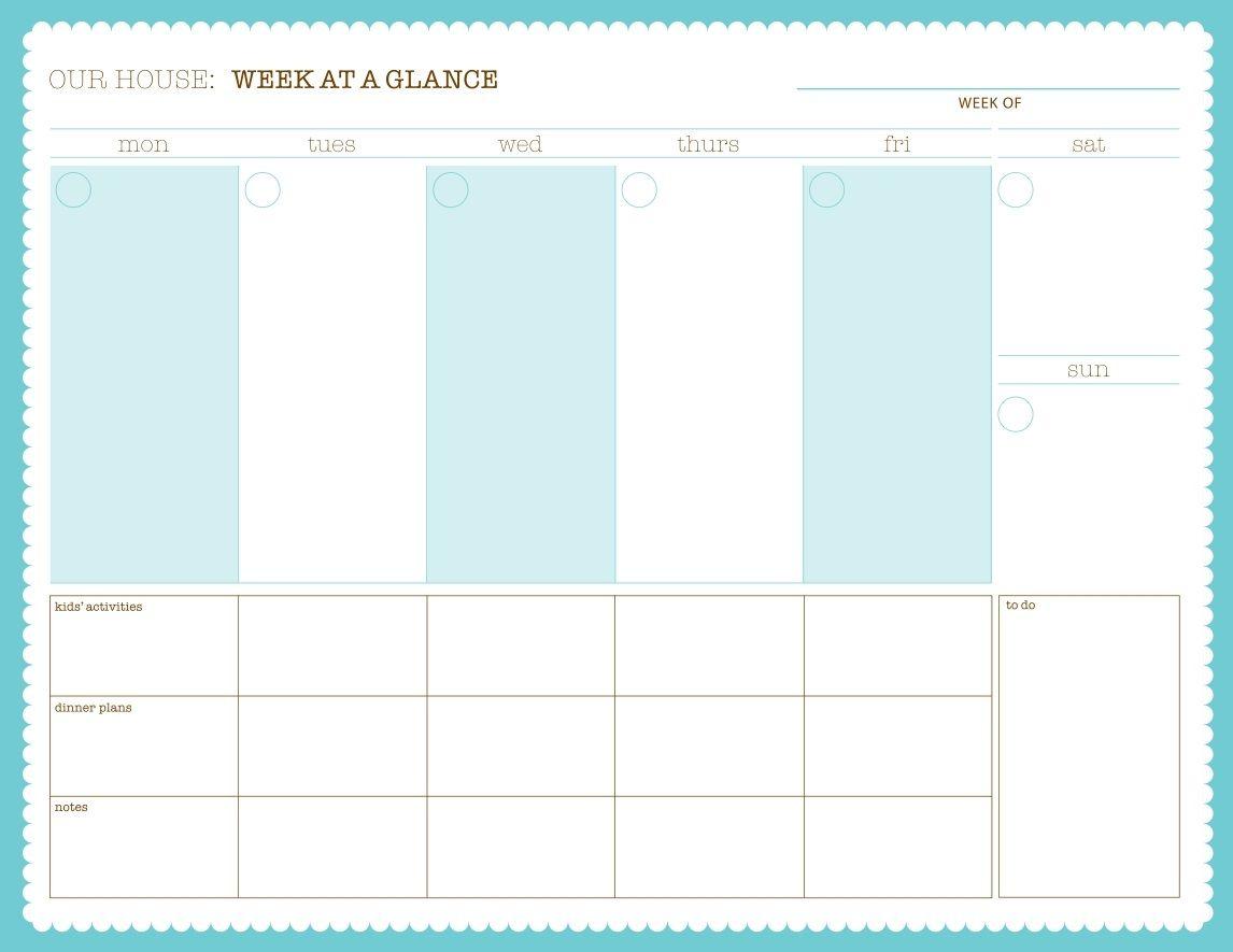 Pinshuggar Mcsweetie On Printables | Weekly Calendar