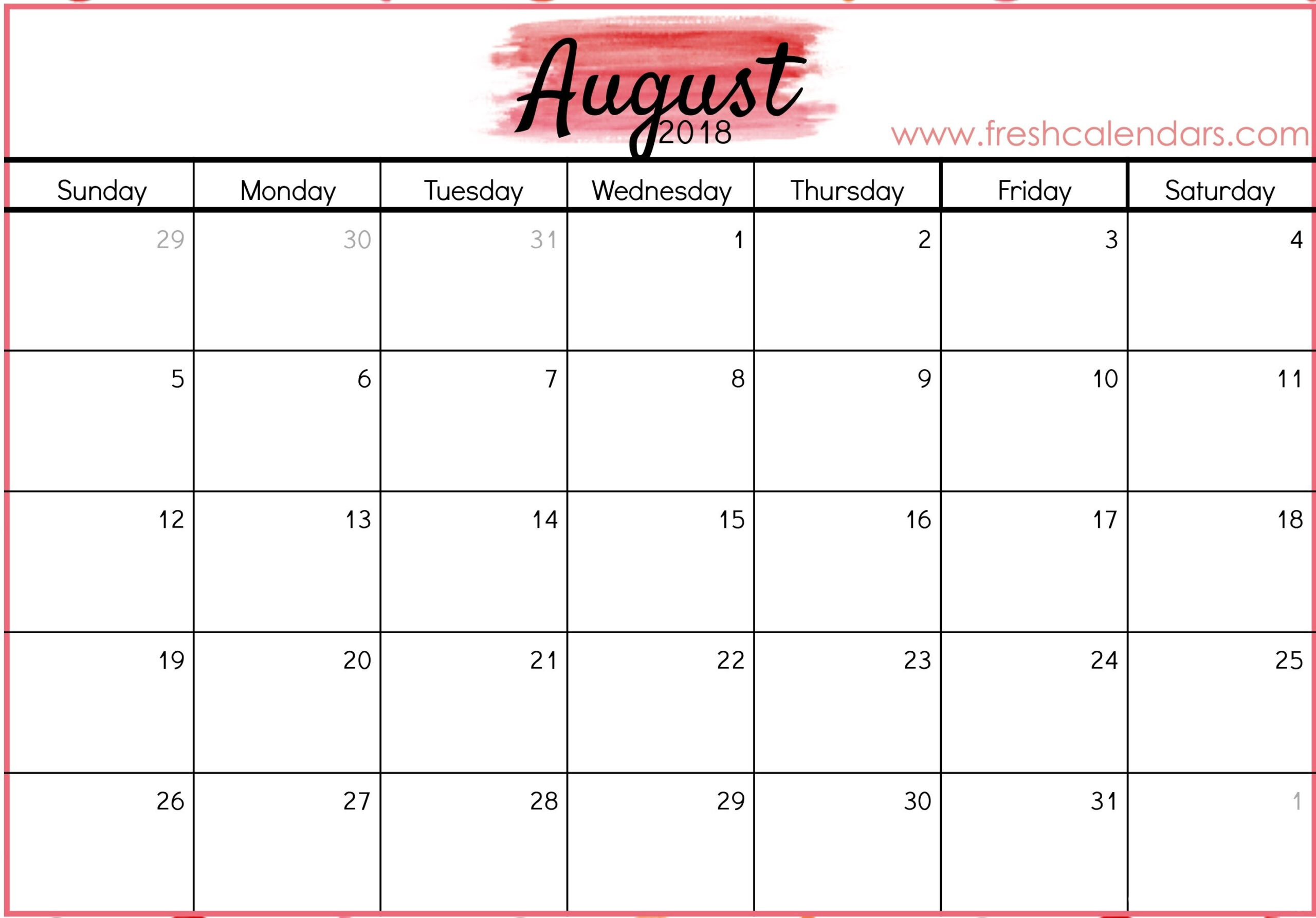 Print Calendar Specific Dates In 2020 | August Calendar