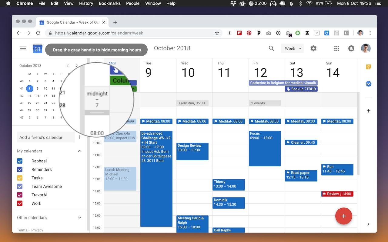 Print Google Calendar Time Range In 2020 | Printable