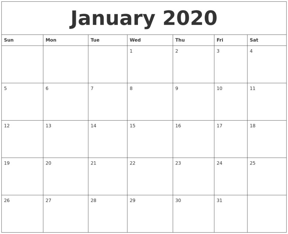 Free Printable Calendar Monday -Sunday