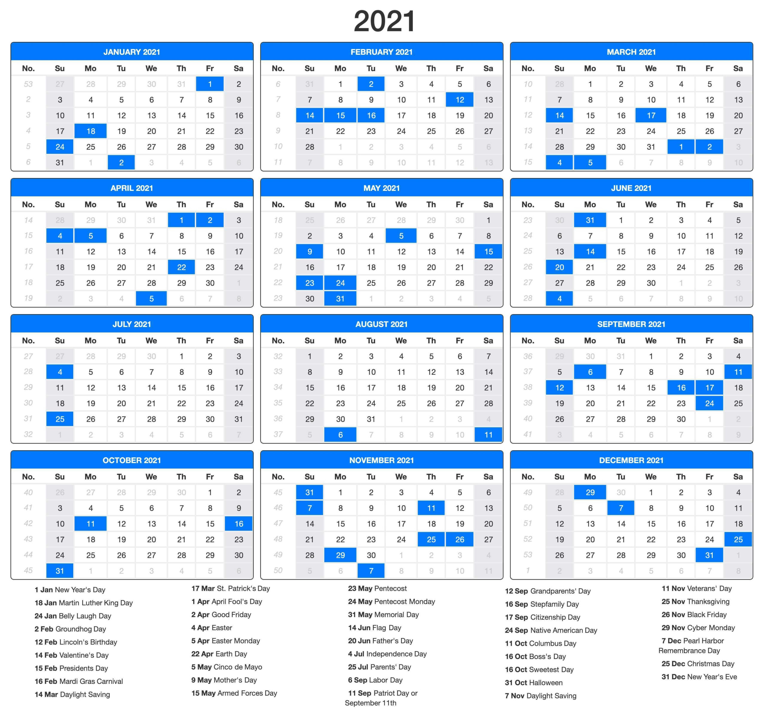 Printable 2021 Calendar Pdf In 2020 | Holiday Calendar