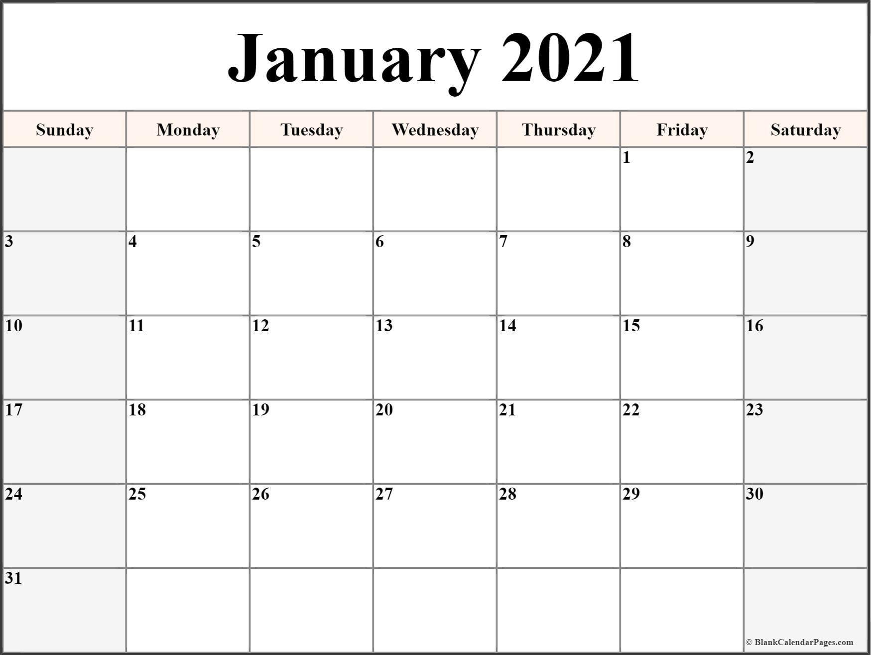 Printable Calendar 2021 Fillable | Free Printable Calendar