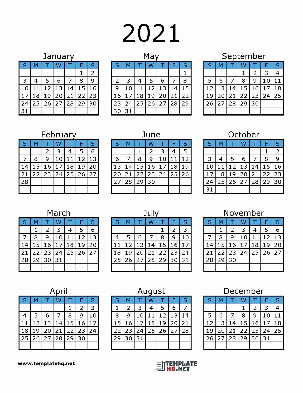 Printable Calendar 2021 In 2020 | Calendar Printables 2021