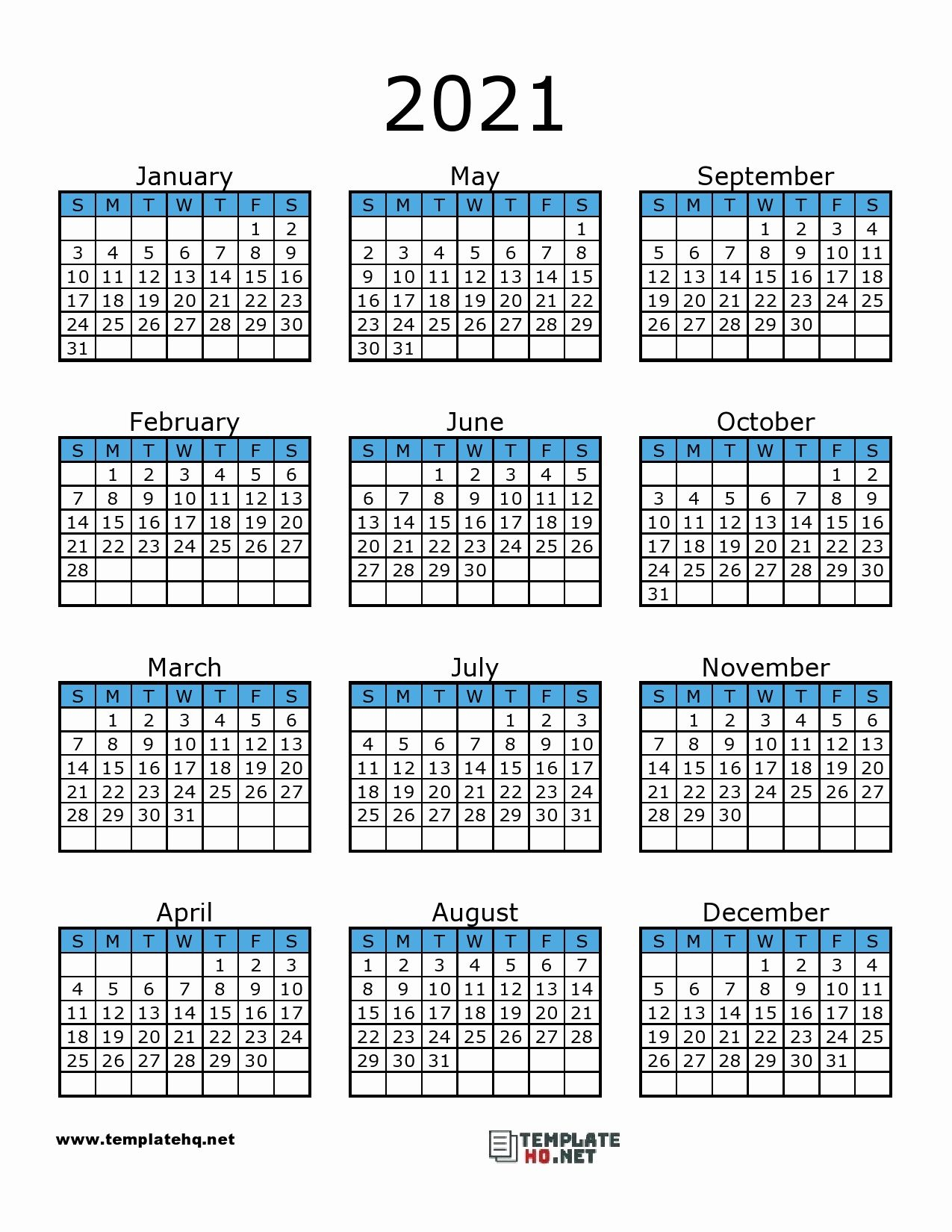 Printable Calendar 2021 In 2020 | Calendar Printables 2021