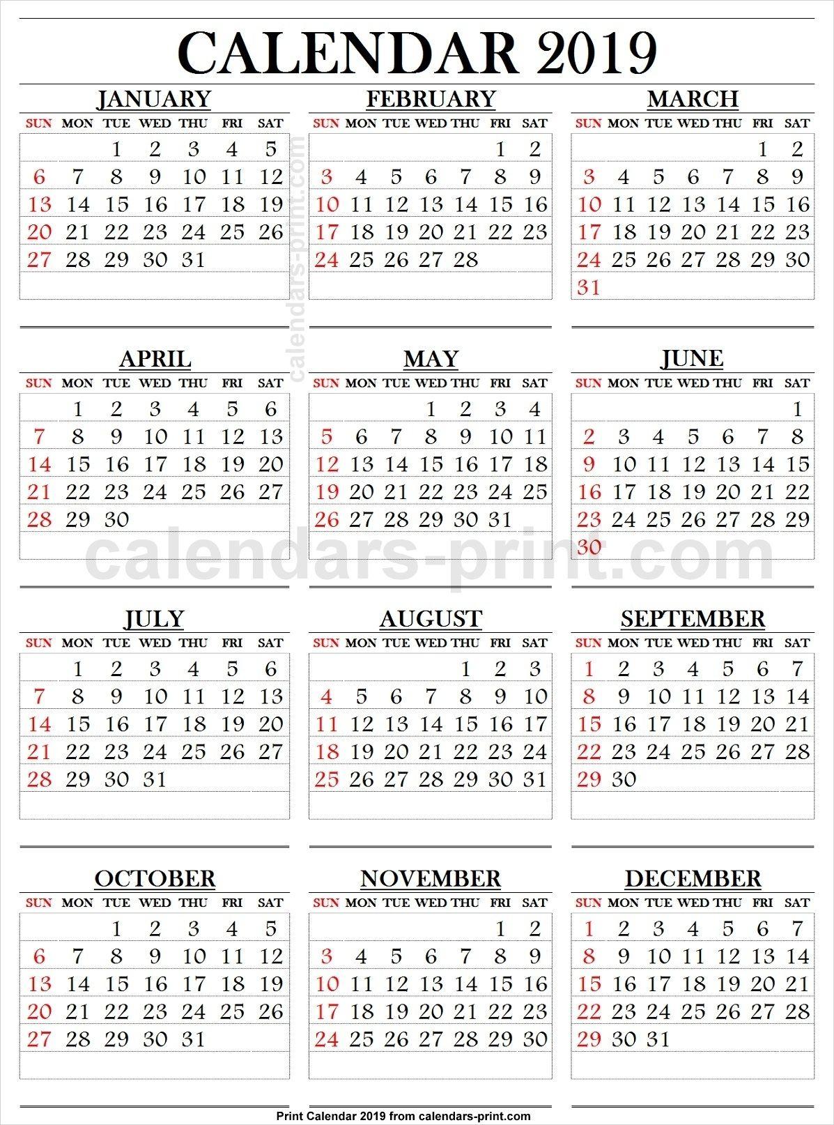 Printable Calendar Large Numbers In 2020 | Printable
