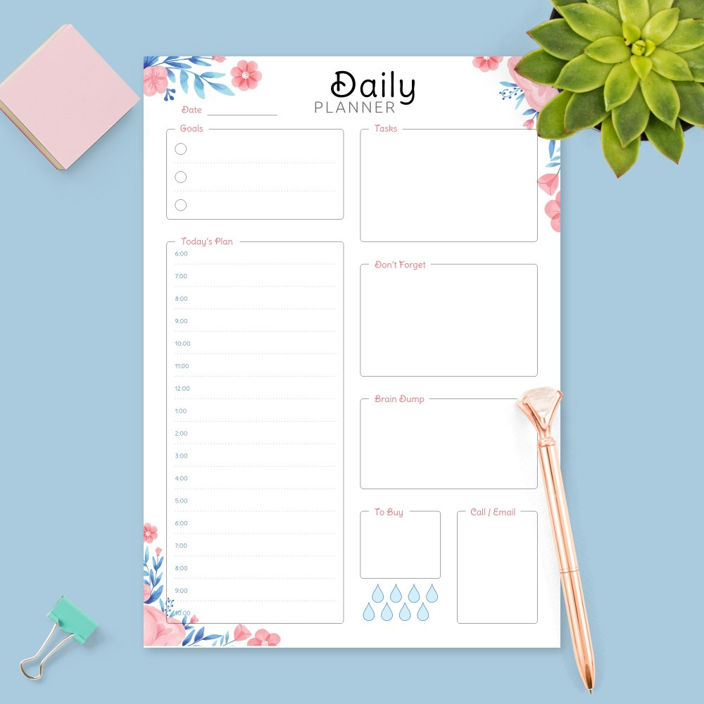 Printable Daily Planner Templates And Day Planners Pdf