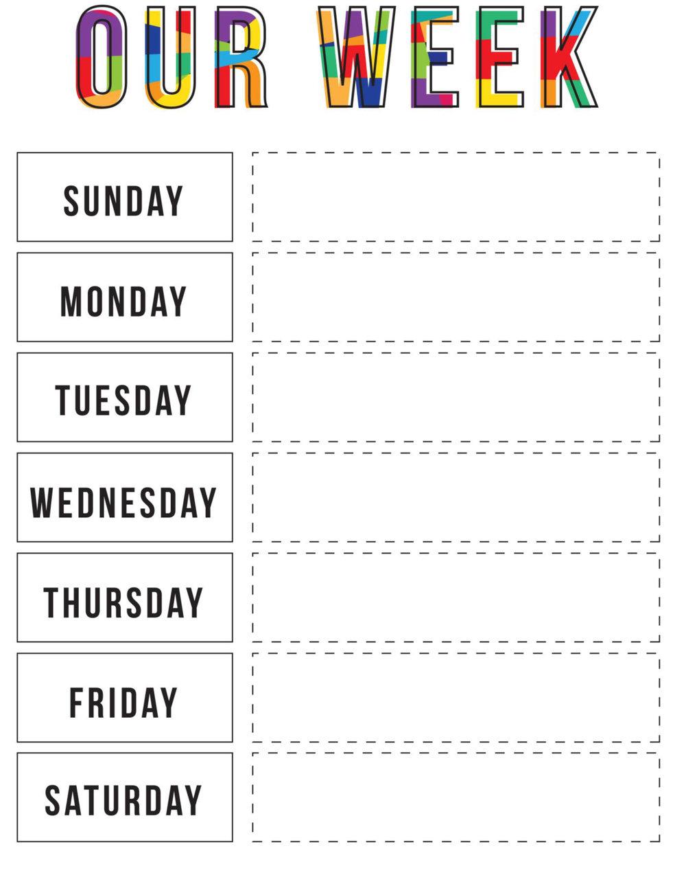 Printable Week-At-A-Glance -- Free Download — Boymoms Unite!