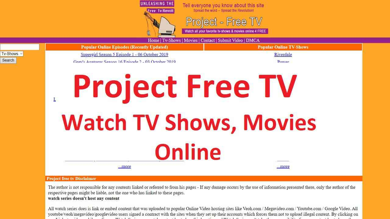 Project Free Tv 2020 : Watch Tv Shows Online For Free On