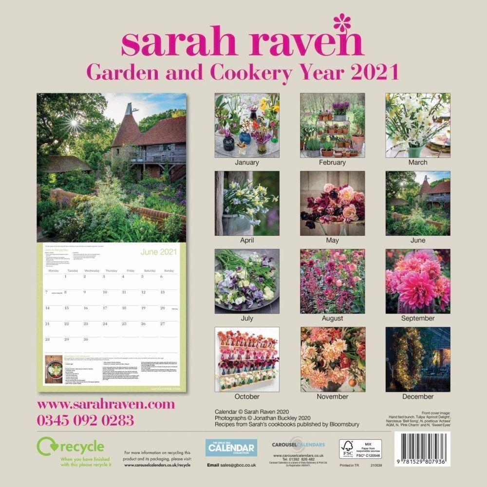 Sarah Raven Garden & Cookery 2021 Wall Calendar - Calendars