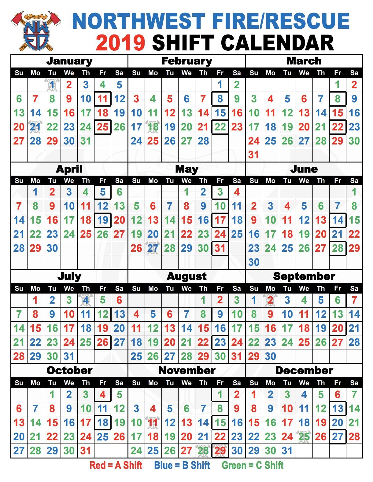Shift Schedules   Northwest Fire District