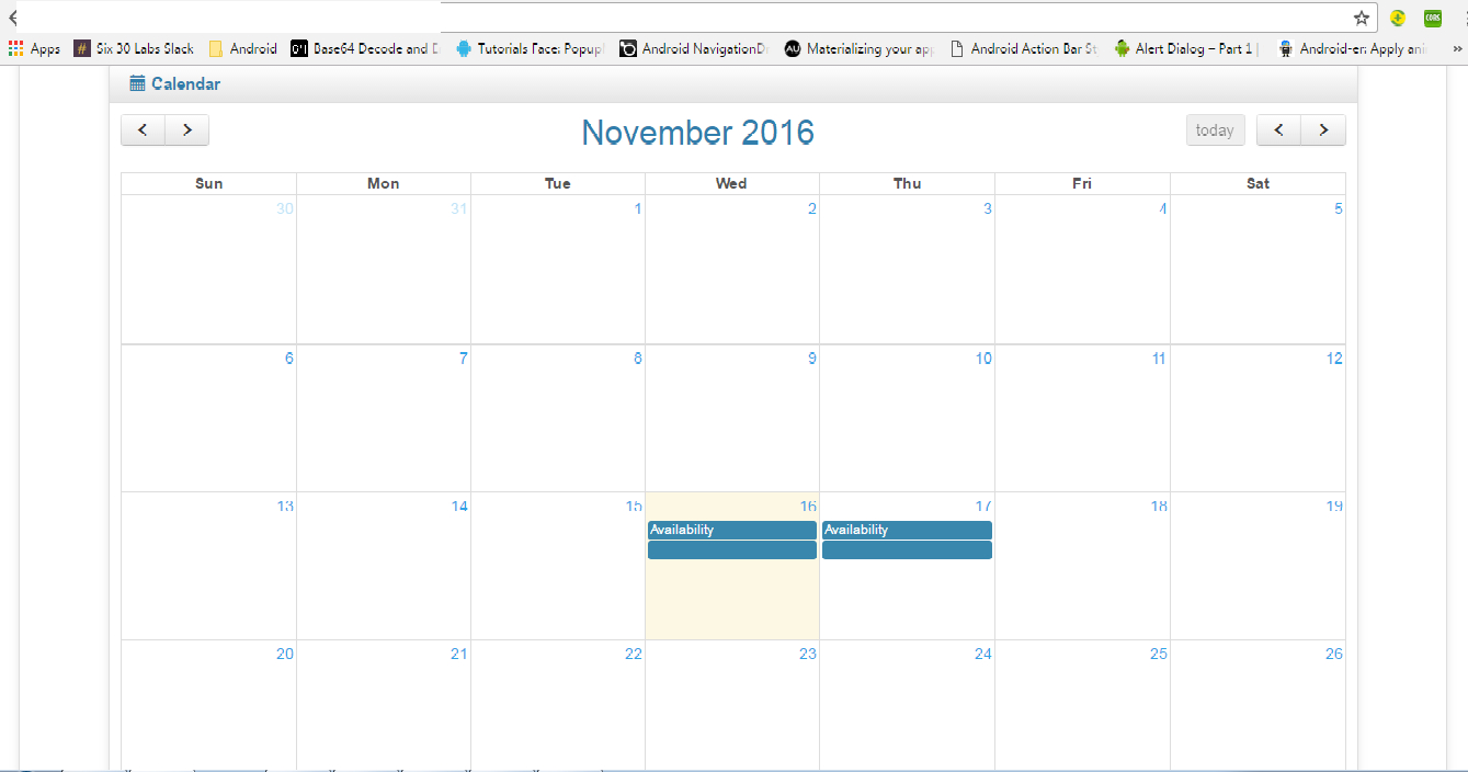Single Event For Single Day In Fullcalendar Month View