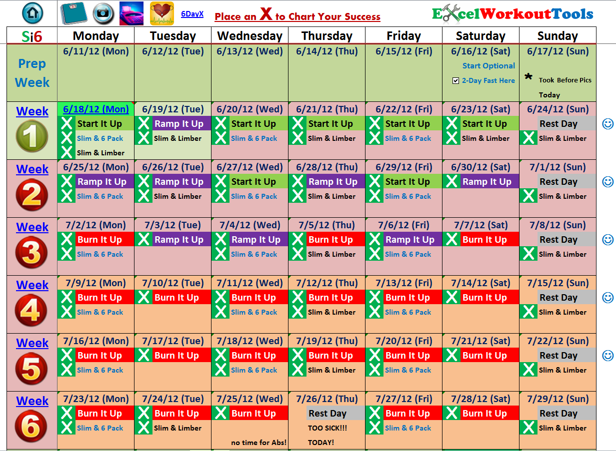 Slim In 6 « Excel Workout Tools | Slim In 6 Fitness Tools