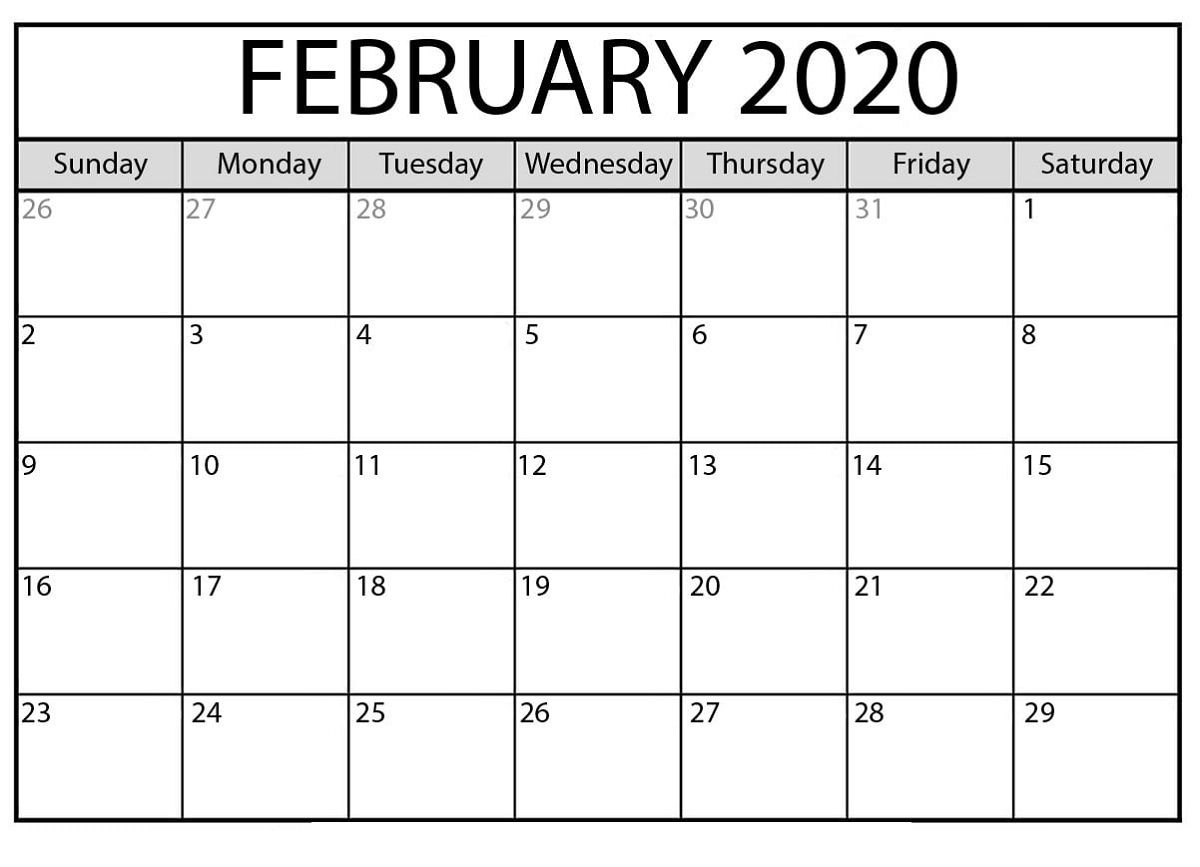 The Fascinating Free Printable Calendar Templates 2020 For