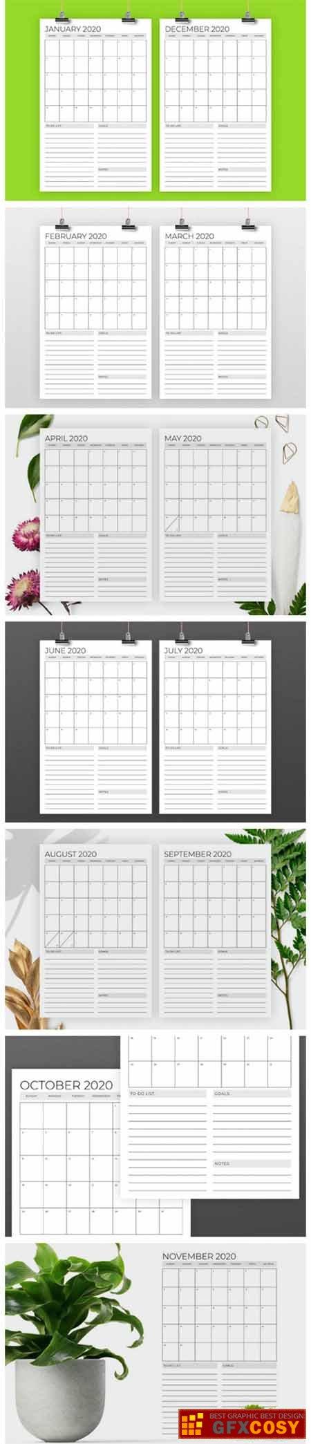 Vertical 11X17 Inch 2020 Calendar 1916124 » Free Download