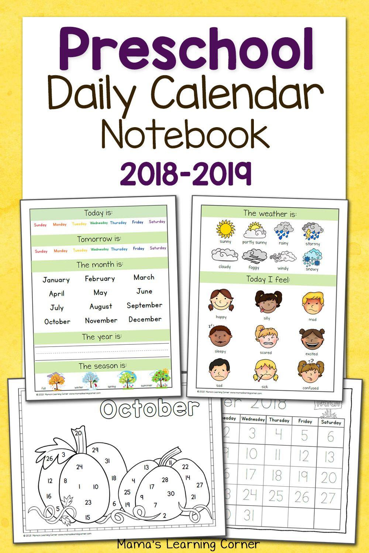 Worksheet ~ Preschool Calendar Notebookts Amp Printables For