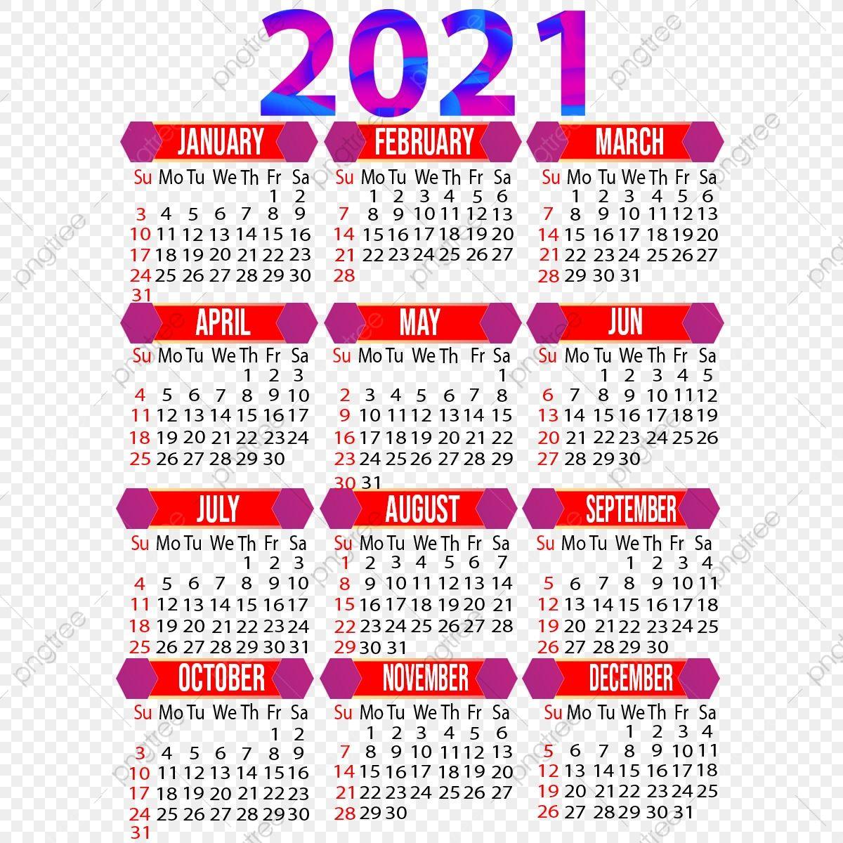 Year 2021 Creative Calendar Design 2021 2021 Calendar