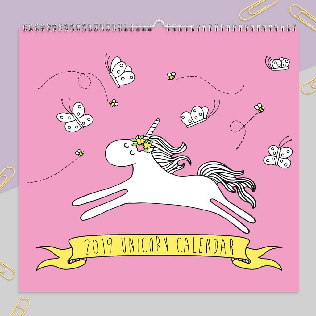 2019 Unicorn Calendarneon Magpie | Notonthehighstreet