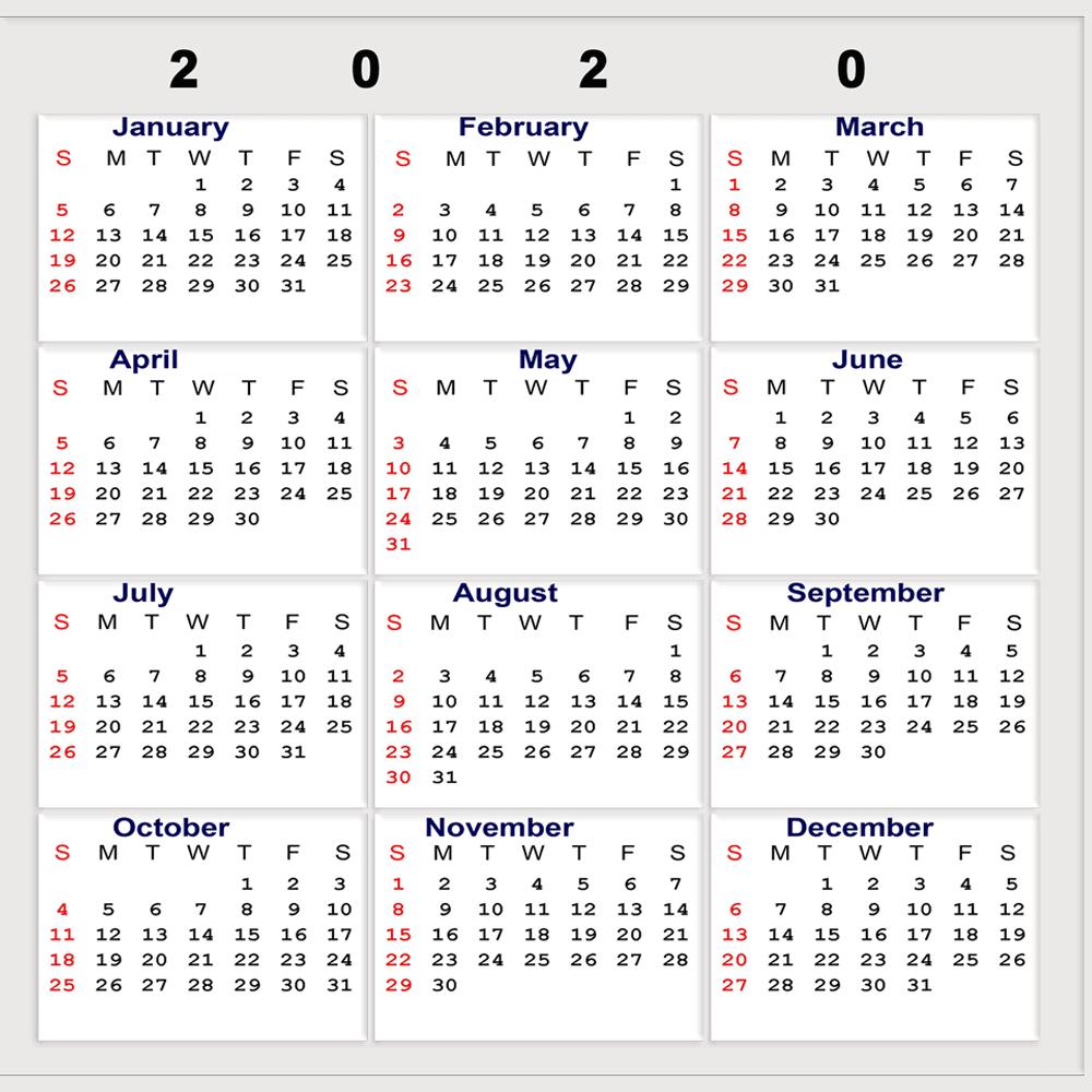 2020 Calendar With Week Numbers Uk | Free Printable Calendar