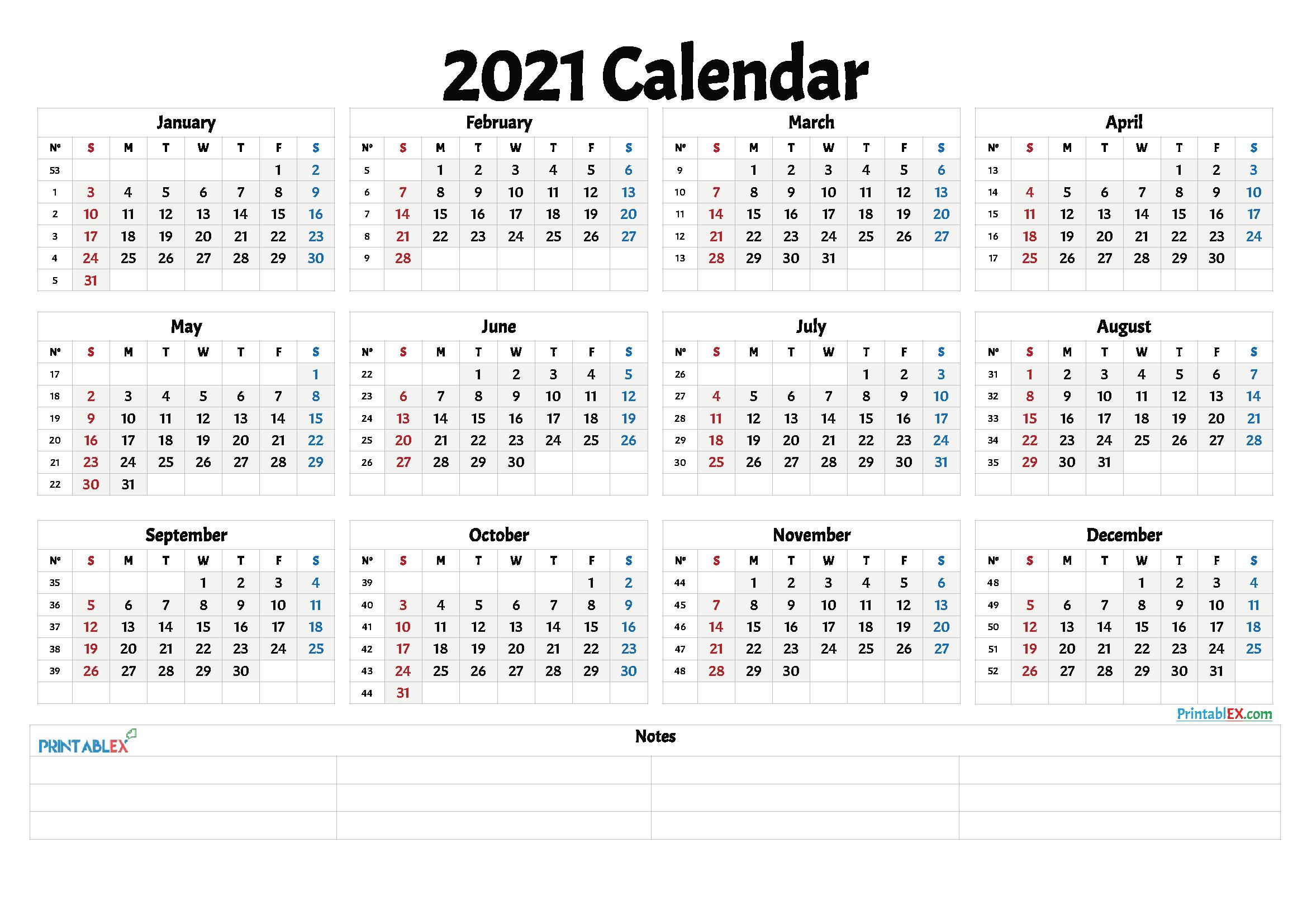 2021 And 2021 Weekly Calendar Printable   Free 2021