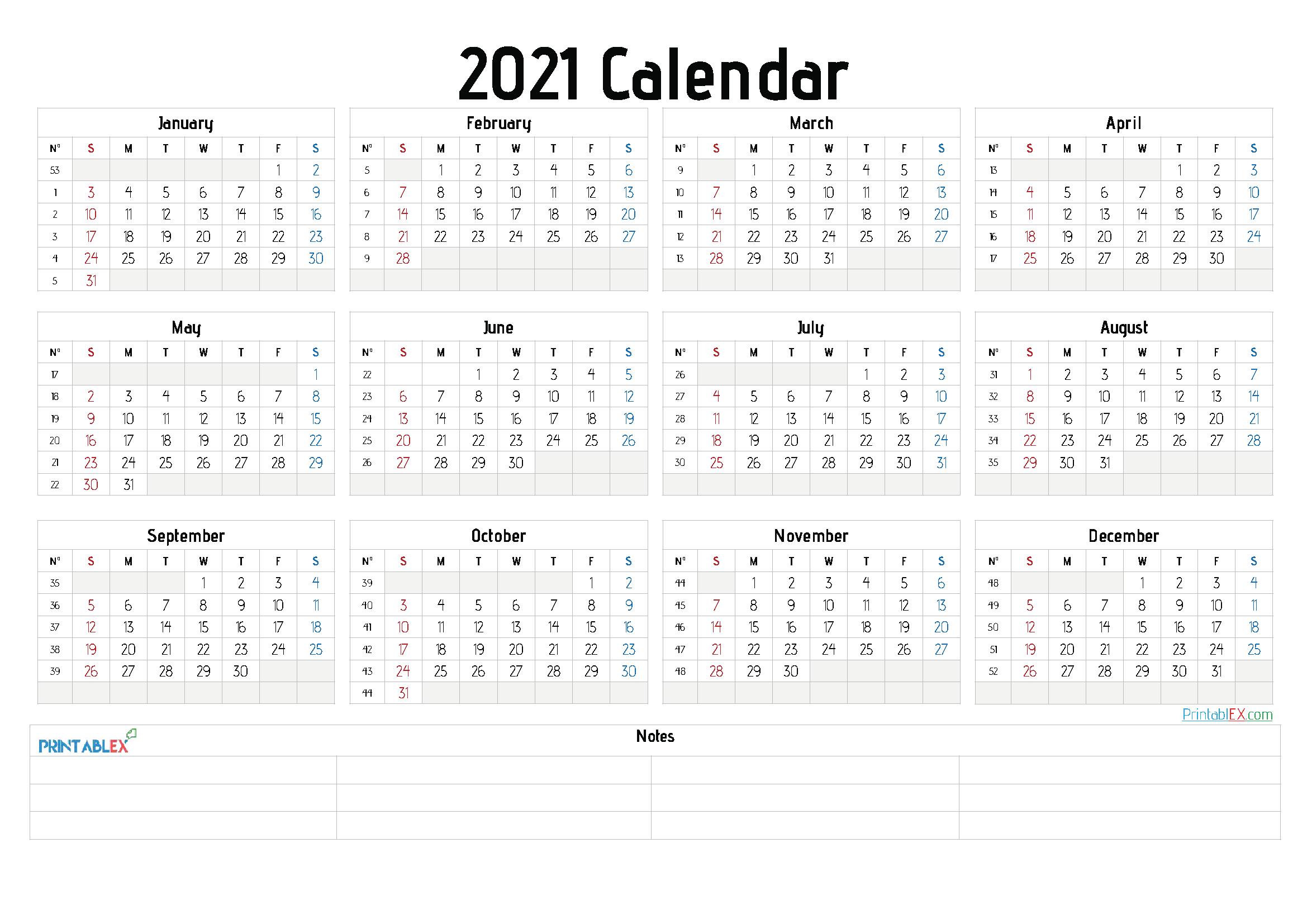 2021 Calendar Editable Free : Free 2021 Printable Calendar