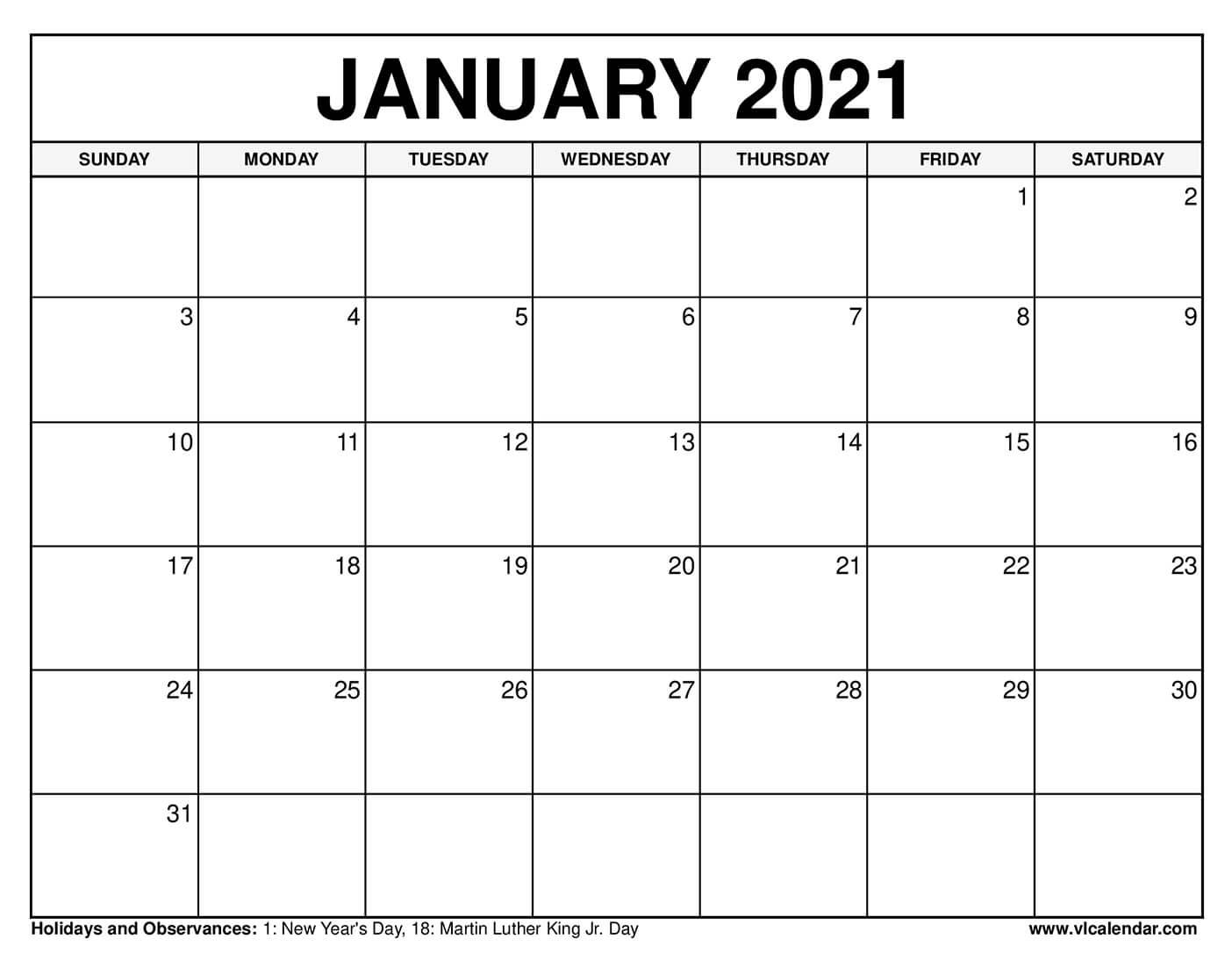 2021 Calendar Squares To Rpint   Calendar Printables Free