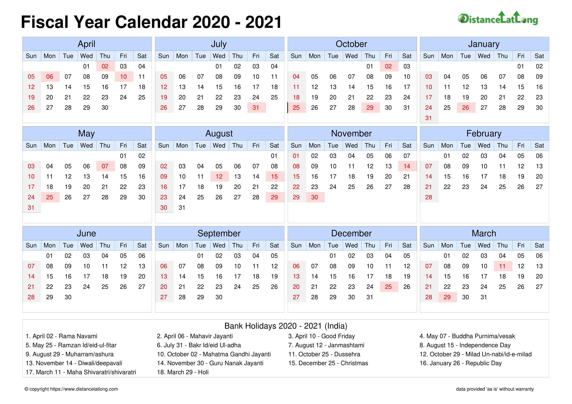 2021 Calendar With Religious Holidays | Printable