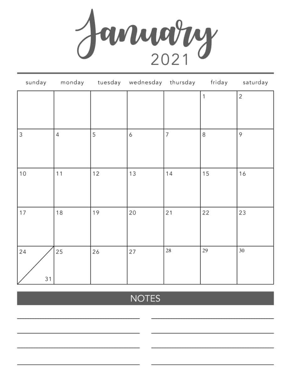 2021 Printable Calendar Pages   Free Printable Calendar