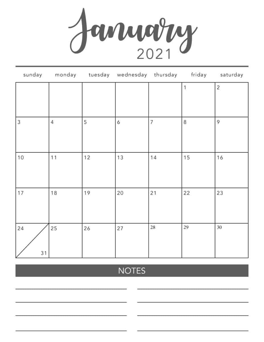 2021 Printable Calendar Pages | Free Printable Calendar
