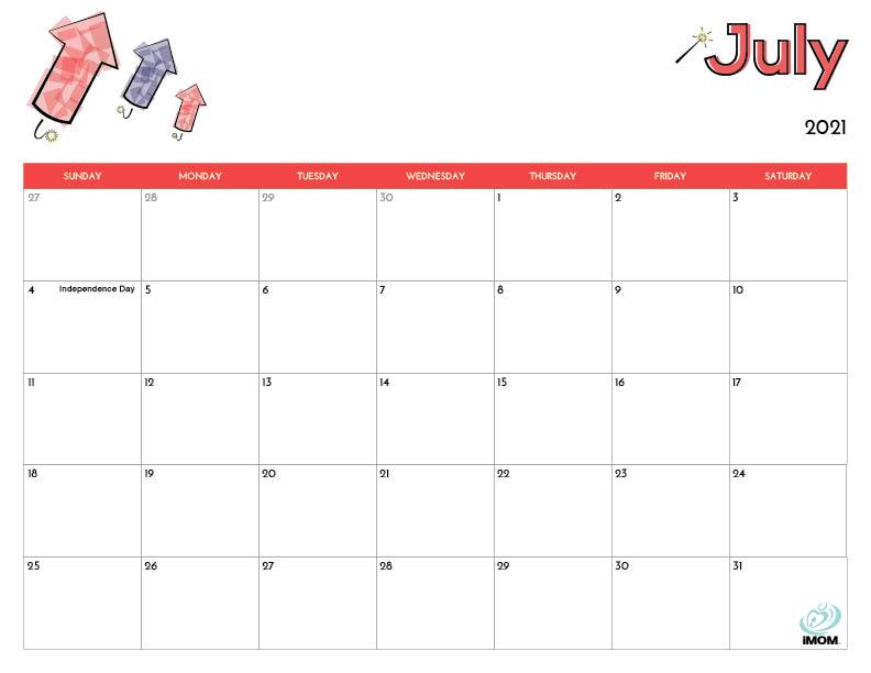 2021 Printable Calendars For Kids - Imom