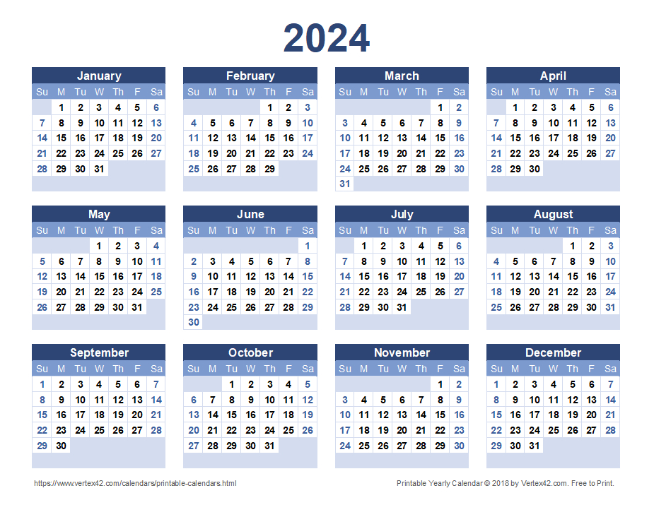 2024 Calendar Templates And Images