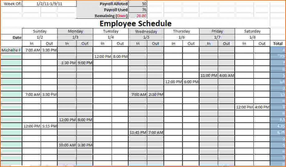 4 Week Calendar Template Excel Understand The Background