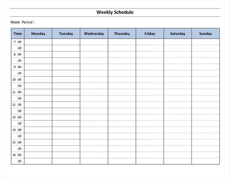 7 Day Week Calendar Printable | Template Calendar