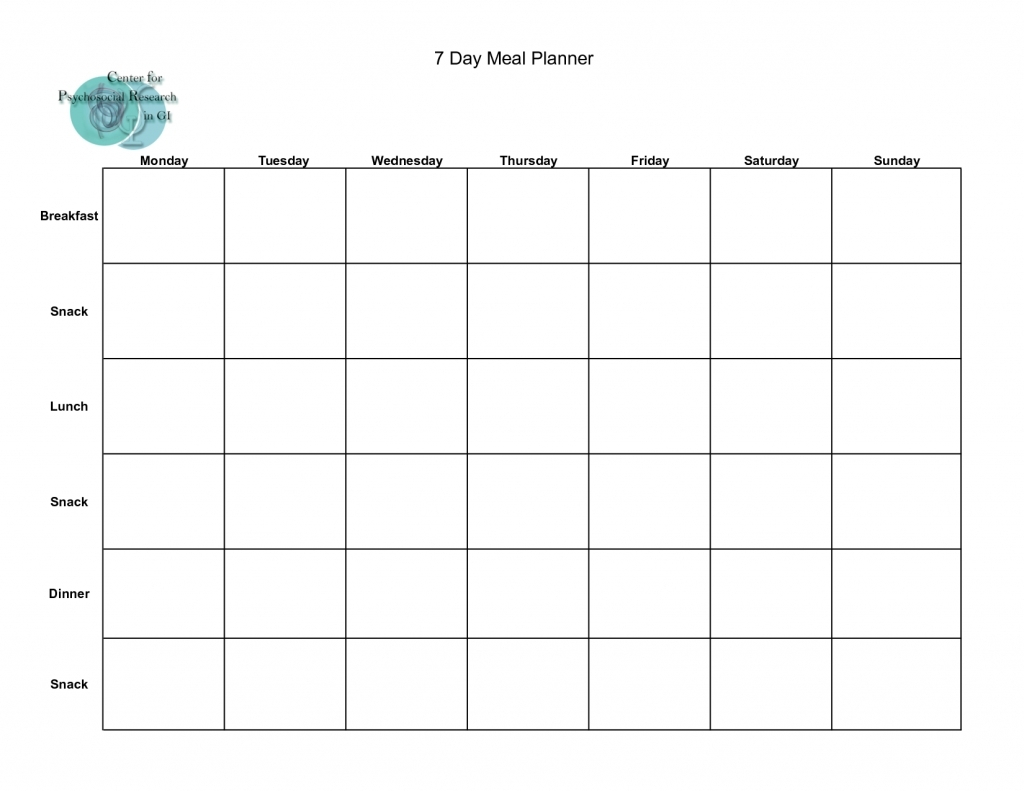 7 Day Weekly Planner Template Printable | Calendar