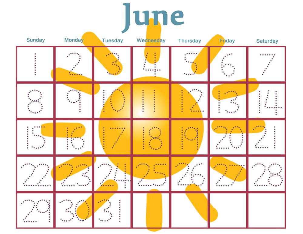 8 Best Free Printable Preschool Calendars - Printablee