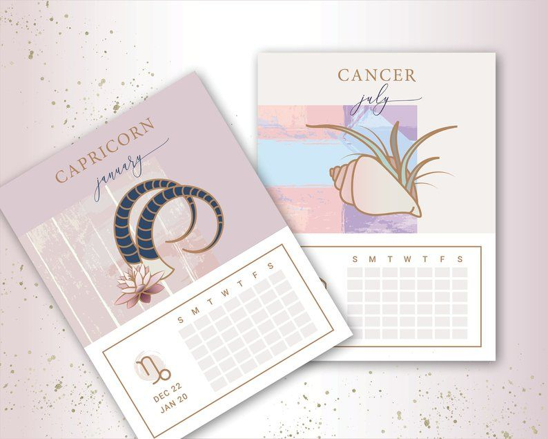 Astrology Calendar Editable Calendar Calendar 2019
