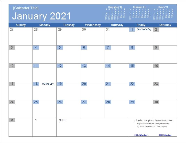 Calendar 2021 Monthly | Calvert Giving