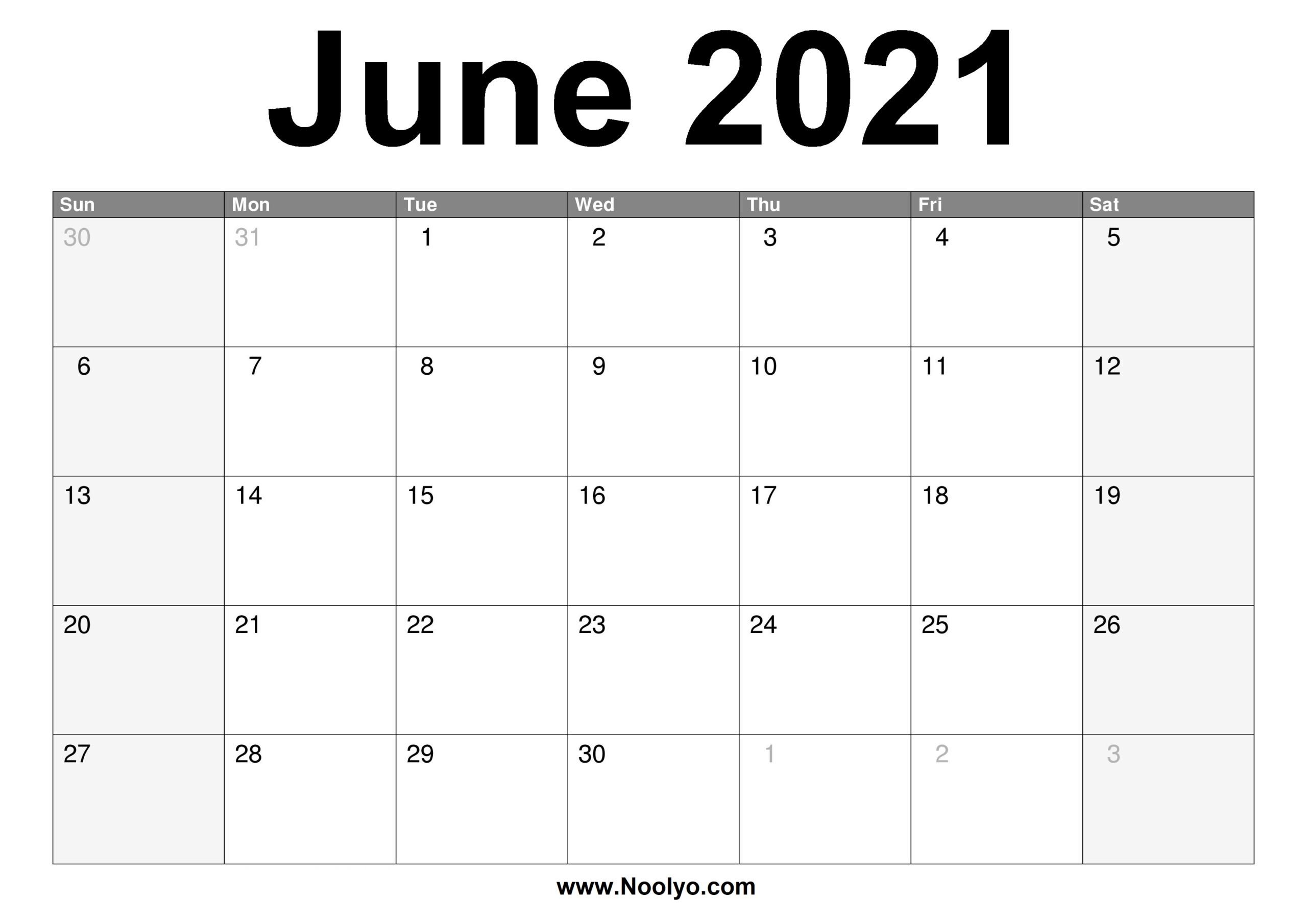 Calendar June 2021 | Printable Calendars 2021
