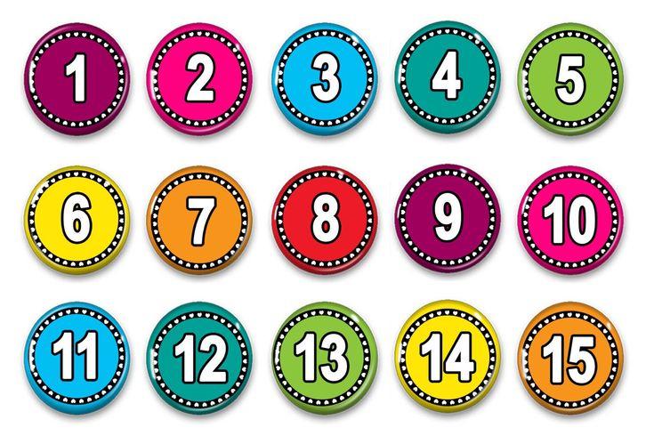 Calendar Numbers - Numbers 1 - 31 - Attendance Numbers