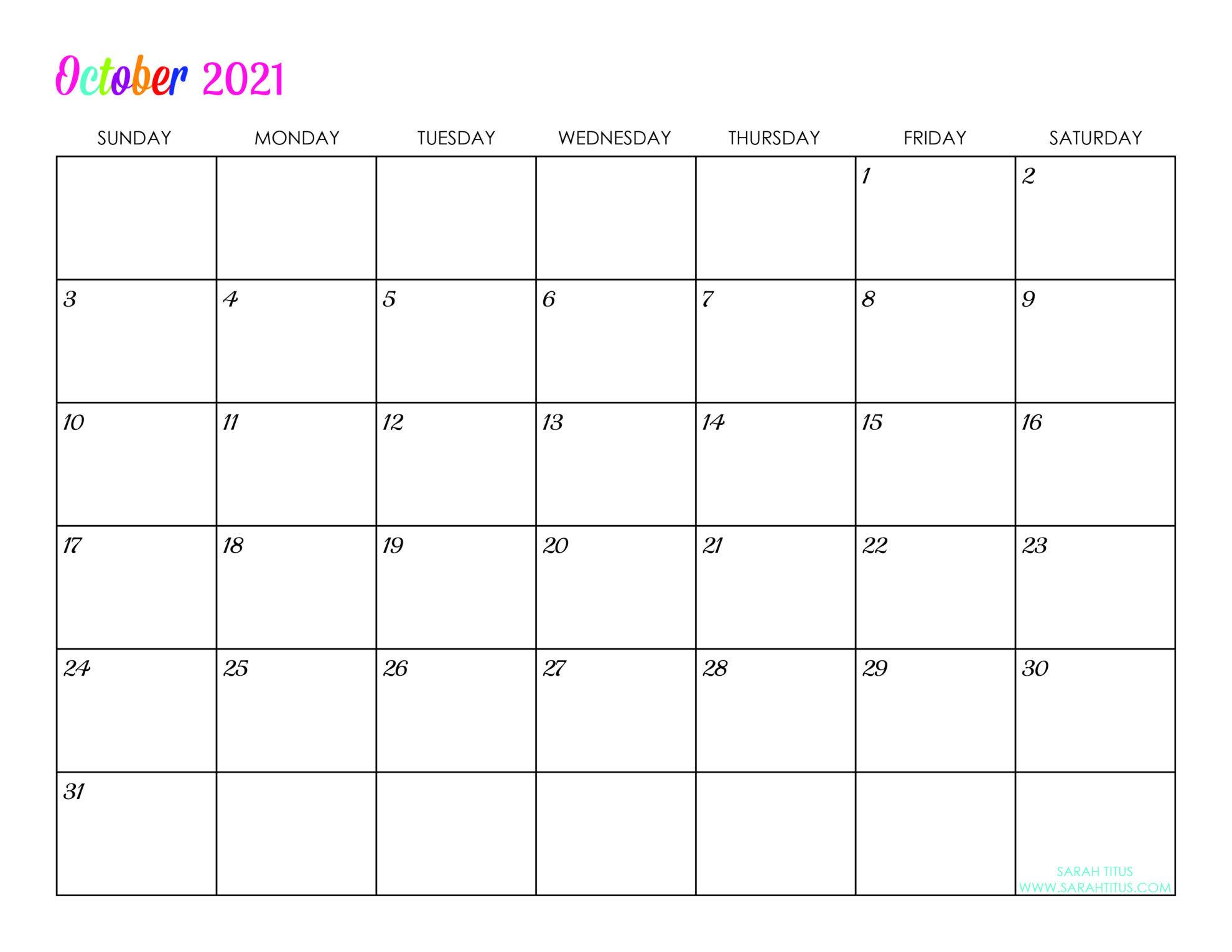 Custom Editable 2021 Free Printable Calendars | Free