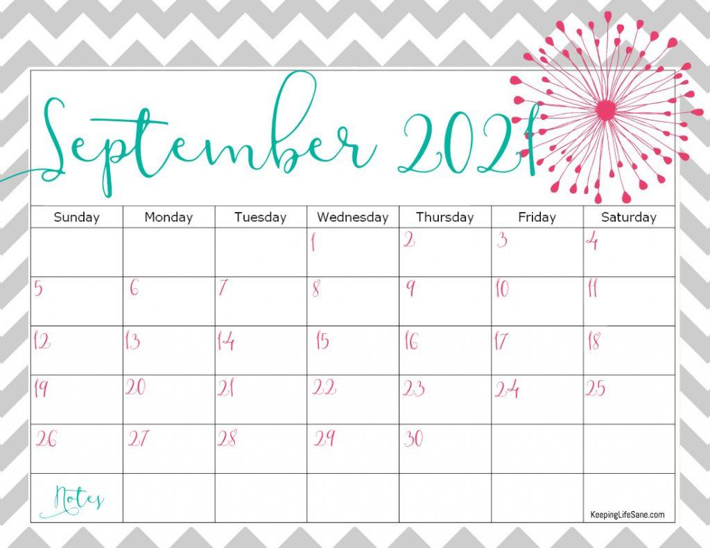Cute 2021 Printable Blank Calendars  Cute Unicorn 2021