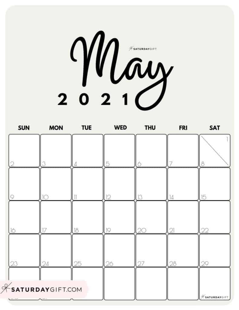 Cute May 2021 Calendar - Calendar 2021