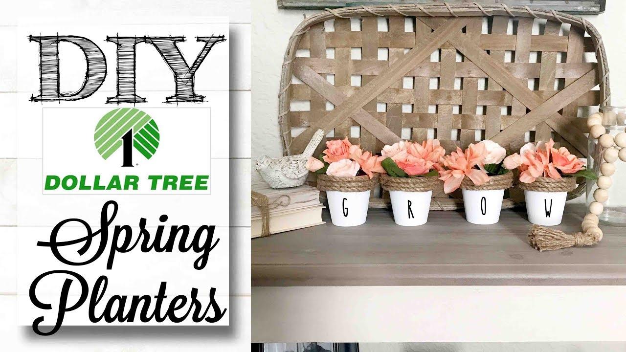 Diy Dollar Tree Spring Planters | So Easy! - Youtube