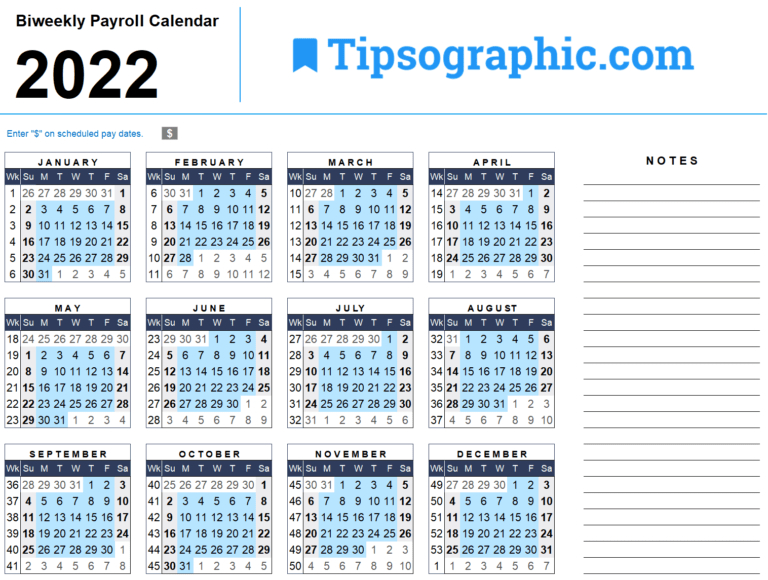 Download The 2021 Yearly Calendar | Tipsographic