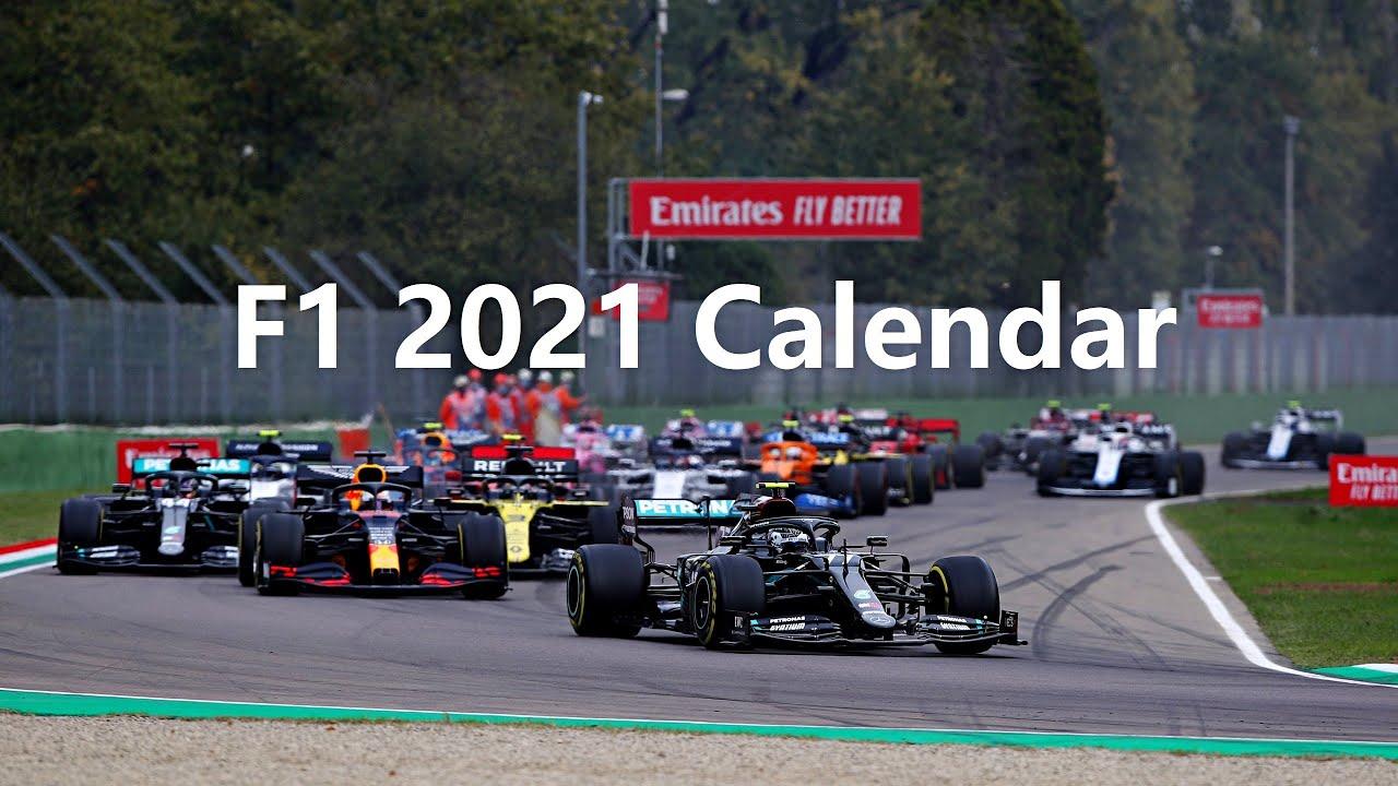 F1 2021 Official Race Calendar - Youtube