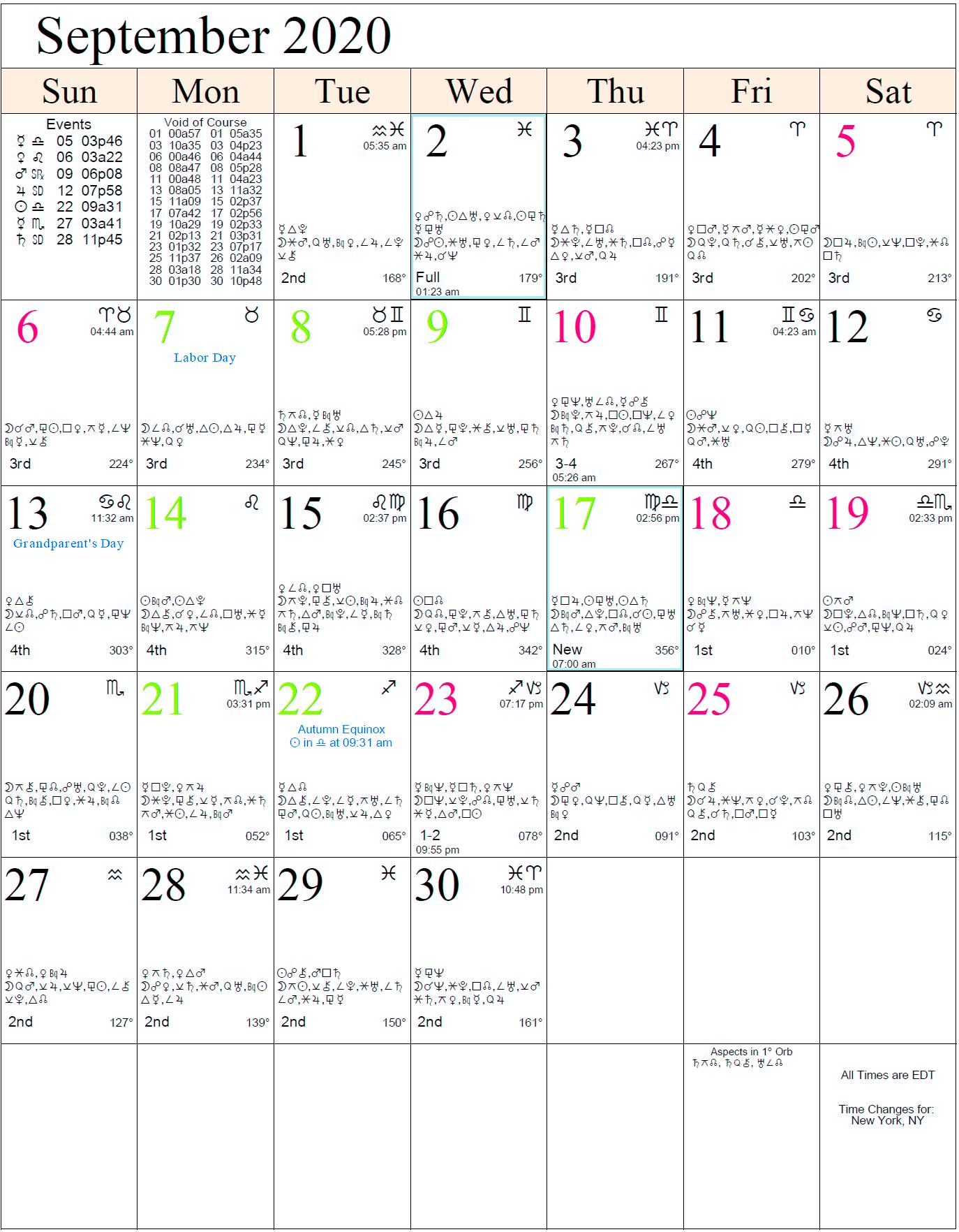 February 2021 Astrology Signs Calendar   Calendar 2021